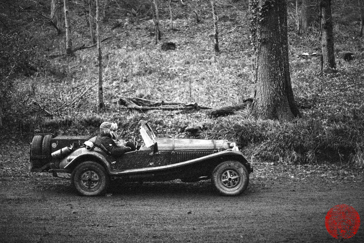 vintage roadster at the mcc lands end trial