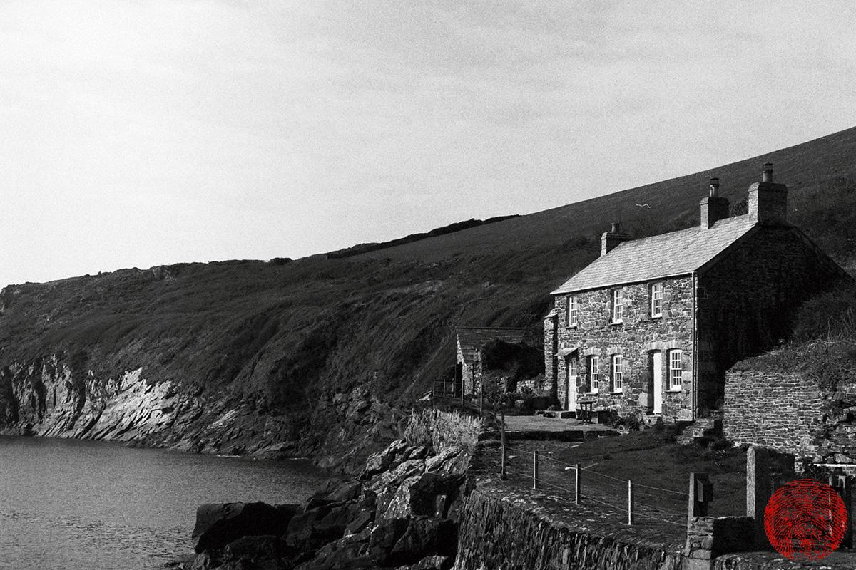 Port Quin, Cornwall, shot with a zorki 4k rangefinder vintage camera