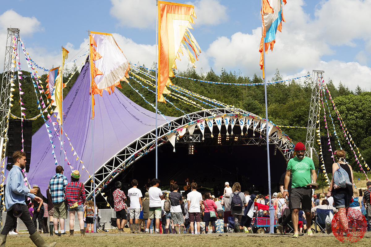 the main stage at somersault festival 2015