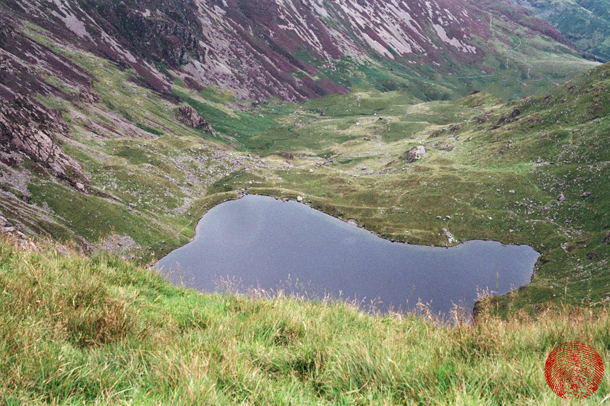 llyn cau, the bottomless lake at the foot of cadair idris