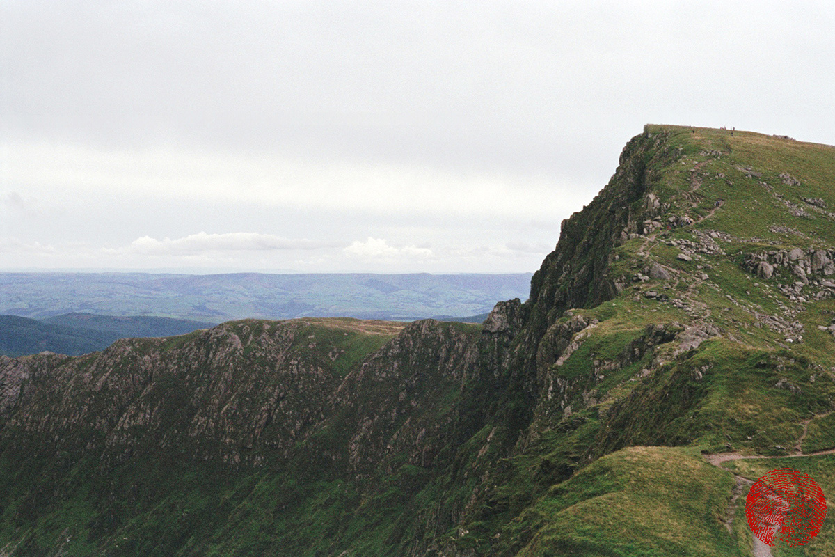 the summit of cadair idris in snowdonia national park, wales